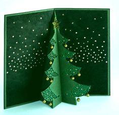 Киригами. Объемная Pop-up открытка – Рождественская Елка - Подарки своими руками - Страна рукоделия