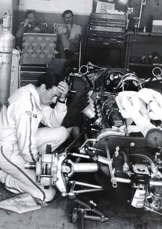 Jim Clark, Colin Chapman & Graham Hill - Ford V8 Indy 500