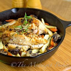 Rosemary Roast Chicken and Vegetables - love that this is baked in the oven in a cast iron skillet!  Great idea!!!!