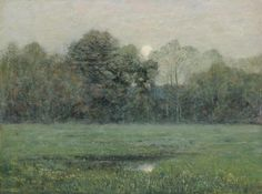 Midsummer Moonrise, 1892, Dwight W. Tryon, oil on wood, 19 1/8 x 25 5/8 in. (48.7 x 65.1 cm) Smithsonian American Art Museum, Gift of International Business Machines Corporation, 1969.131