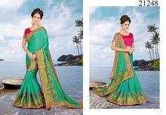 Partywear Wedding Bollywood Indian Pakistani Saree Ethnic Dress Sari Designer #TanishiFashion #DesignerSaree