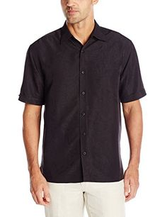 c9c86e95afb New Cubavera Men s Short Sleeve Polyester L-Shape Embroidered Button-Down  Shirt online