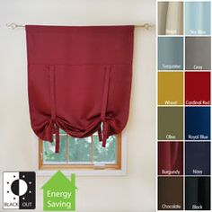 @Overstock - These solid insulated tie up shades will block out light and help save energy. The shades are available in a variety of gorgeous colors to match your living space decor.http://www.overstock.com/Home-Garden/Solid-Insulated-63-inch-Blackout-Tie-Up-Shade/3245240/product.html?CID=214117 $39.99