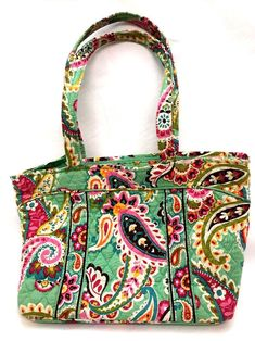 Vera Bradley 2013-2014 Tutti Fruitti Print Medium Tote Bag Purse Zipper   VeraBradley  TotesShoppersSatchelTote f41f4fb42f1a9