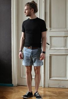 Vintage YSL Denim Shorts