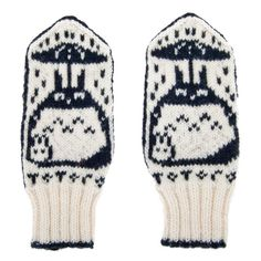 Hey, I found this really awesome Etsy listing at https://www.etsy.com/listing/112045523/totoro-mittens-gloves-100-hand-knit-from