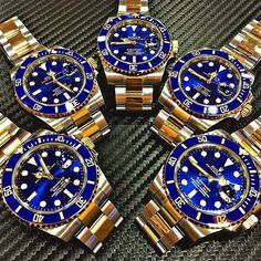 ROLEX Blue Submariner Steel & Gold - Available @ Time Of Perfection Complete set - Brand new Whatsapp for price / inquiries by timeofperfection Rolex Submariner Blue, Rolex Blue, Rolex Gmt, Rolex Watches For Men, Sport Watches, Luxury Watches, Rolex Women, Luxury Lifestyle Fashion, Pink Watch