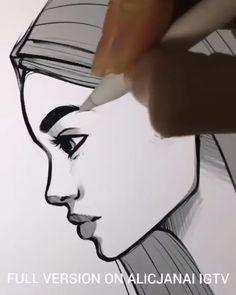 Amazing Pen Art - Art Tips - Handmade Everything Pencil Art Drawings, Art Drawings Sketches, Easy Drawings, Amazing Pencil Drawings, Interesting Drawings, Realistic Drawings, Sketch Art, Art Du Croquis, Pen Art