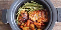 Poulet et légumes dans une sauce miel et ail... Laissez votre mijoteuse faire le boulot à votre place! - Recettes - Ma Fourchette Slow Cooker Recipes, Crockpot Recipes, Chicken Recipes, Healthy Recipes, Yummy Recipes, Healthy Food, Sauce Au Miel, How To Cook Quinoa, Salad Ingredients