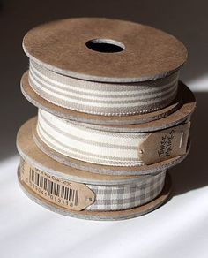 Ribbons love the brown paper price tags
