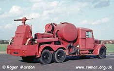This Fordson WOT1A ex Royal Air Force fire/crash truck with rear monitor console, known as the 1945 monitor, was seen at Rochester Airport in the late 1960s.