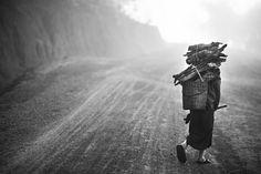 women working in the early morning in kalaw. burma