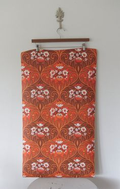 Vintage Orange Retro Wall Paper by LoveandRummage on Etsy, $15.00