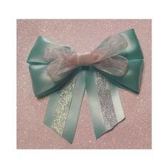 Tiffany Blue Bow ($10) ❤ liked on Polyvore