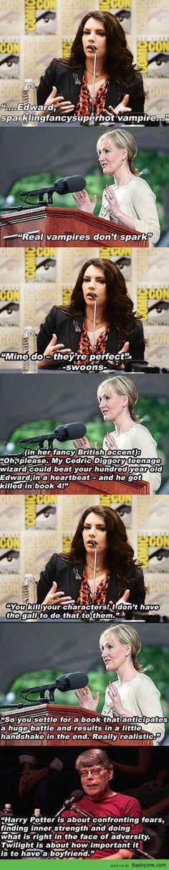 Stephanie Meyer Vs Jk Rowling