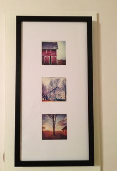 any three 4x4 photos framed by hobbes2485 on etsy 2400