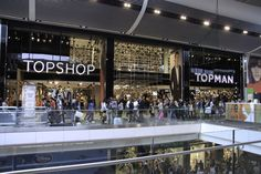 Remote operated window display at Topshop Topman's store at Westfield Stratford.