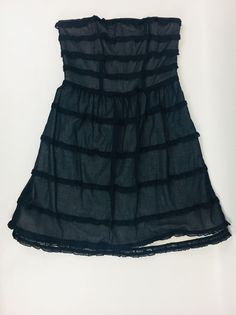 Marc by Marc Jacobs Tiered Strapless Dress Tulle Overlay Size 6 Fit and Flair  | eBay