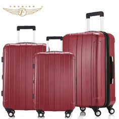 ABS PC 20 24 28 Red Waterproof Lightweight Hardside Travel Carry-on Luggage  Suitcase 1 01e9344bb80a2