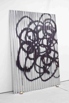 Keith Farquhar Woolmark 2, 2012 U.V. direct print on corrugated, galvanised steel 244 x 91 cm
