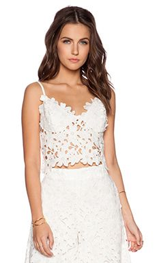 Line & Dot Femme Bustier Top in White
