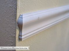 tips for installing beautiful moulding - don't end with a blunt 90 degree cut 3