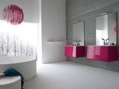 Contemporary Bathroom Decor Ideas With Two Mirrors on Contemporary Bathroom Mirrors - Best Bathroom Interior Man Bathroom, Budget Bathroom, Bathroom Sets, Bathroom Furniture, Bathroom Mirrors, White Bathroom, Wall Mirror, Bathroom Colours, Pink Furniture