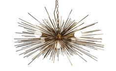 Gold Urchin Chandelier Lighting with Five Lights by Stimulight, $449.00