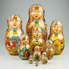 Tale of The Golden Fish Nesting Doll | Nesting Dolls on Sale | The Russian Store