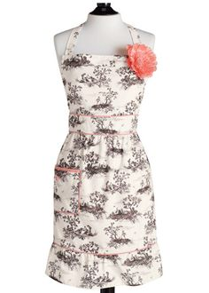 Jessie Steele Apron (Harvest Toile Courtney)    Holy shit.... awful but that is all I can say when I see this. I must have one.