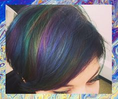 Oil Slick Hair. Finally they thought of this for brunettes! Looks amazing!
