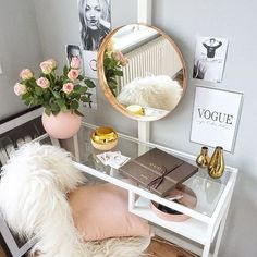 44 Ideas Girly Closet Decor Dreams For 2019 My New Room, My Room, Girls Bedroom, Bedroom Decor, Bedrooms, Vanity Room, White Vanity Desk, White Makeup Vanity, Makeup Vanity Decor