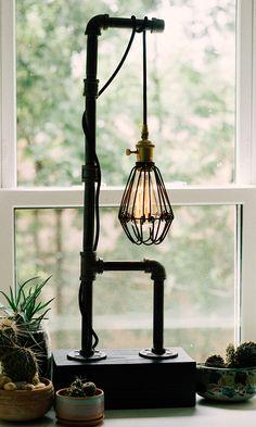 Edison Bulb Vintage Pipe Lamp - $65