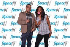 Moya and Thomasa at the GIF station.