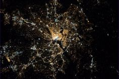 Washington, DC - the Beltway and the Mall both visible from Earth orbit. / via Twitter