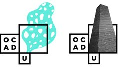 Identity for OCAD University. The white box is empty so that students can add their own meaning.