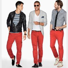 I wonder if I could ever pull off red pants?