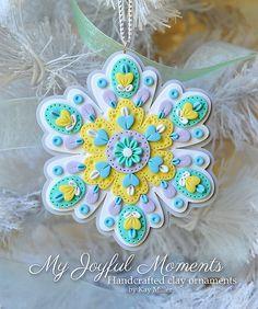 Handcrafted Polymer Clay Ornament di MyJoyfulMoments su Etsy