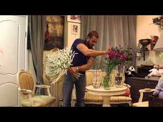 Уроки флористики Славы Роска. Мастер-класс вертикальный мужской букет - YouTube