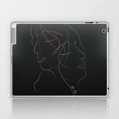 Authîel Rainbow Minimalist Laptop & iPad Skin by weivy Laptop Skin, Ipod Touch, Ipad Case, Tech Accessories, Laptop Sleeves, Line Art, Ivy, My Design, Minimalist