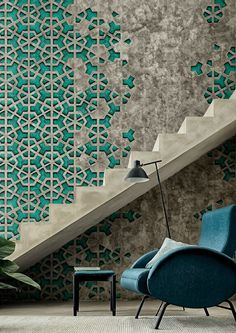Wall&decò at Maison et Objet with its indoor wallpaper collection - Material effects to decorate the walls with an aesthetic reminiscent of the 50s @wallanddeco @maisonobjet