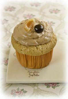 Espresso-Cupcakes mit Blutorangen-Creme