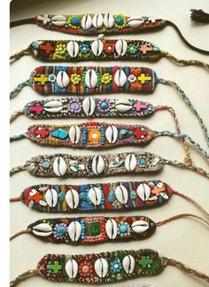 Your place to buy and sell all things handmade Diy Fabric Jewellery, Textile Jewelry, Shell Jewelry, Beaded Jewelry, Beaded Bracelets, Magical Jewelry, Handmade Jewelry Designs, Homemade Jewelry, Handmade Bracelets