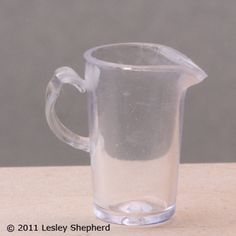 Make a Miniature Pitcher From a Recycled Plastic Pencil Cap: Weld the Plastic Handle To the Sides of the Dollhouse Pitcher