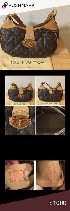 """Limited Edition Authentic Louis Vuitton Etoile Selling Authentic Louis Vuitton Etoile City PM Handbag that is gorgeous to carry around for everyday use. The leather has patina as seen in the pictures with a few water marks, scratches on the leather/hardware and marks on the cloth on the inside of the purse as seen in pic 2 bottom right hand corner. Measurements: 12"" L x 7"" H x 4"" Depth x Adjustable Drop. Louis Vuitton Bags"