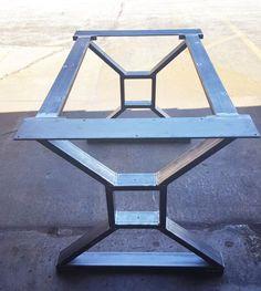 """Moderno, mesa comedor """"X"""" patas, modelo #TTS09B, con 2 llaves, por DVAMetal"""