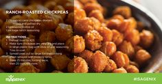 Craving that crunchy, salty snack for the big game? Try these Roasted Chickpeas as a healthy alternative to potato chips! ‪#‎Isagenix‬ ‪#‎GameDayTreats‬
