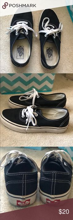 ba62f418f4 Vans Authentic shoes Black and white authentic shoes! They are a few years  old