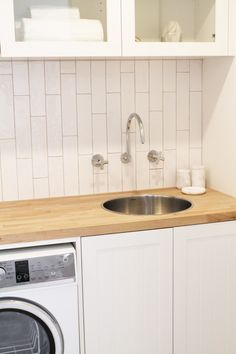 Three Birds House 5 Laundry - Featuring Dorf Maxum Tapware and Clark Cellini Sink.