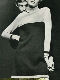 vintage 1960 60s 60's années 60 sixties mod twiggy gogo Tailleur jupe en shetland / knit suit skirt , Sonia Rykiel Sous pull / polo-neck sweater , Prisunic Montre de gilet / Large watch , Old England i guess well done Twiggy ! robe pull et robe cardigan à manches longues et jersey Woolmark / knit sweater dress , Dorothée Bis écharpe / scarf , Timwear chez Claude Gilbert ceinture / belt , Laura Robe pull jaune à poches basses et ourlet à côtes / yellow knit dress , Hit Parade robe f...